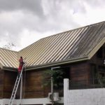 Large Residential Roof Cleaning During