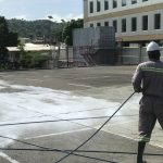 Low pressure roof and surface cleaning Trinidad
